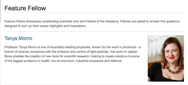 Featured Fellow Prof Tanya Monro