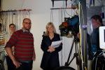 Dr James Anstie being interviewed by Channel 7