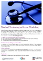 Medical Technologies Sector Workshop – Agenda