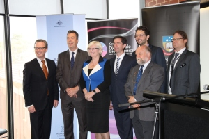 Hon Christopher Pyne, Minister for Industry, Innovation and Science visit to The Braggs at the University of Adelaide, Senator Simon Birmingham, Minister for Education and Training and The Hon Karen Andrews, Assistant Minister for Science