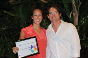 Michelle Turvey, recipient of the IPAS Tanya Monro Presentation Award and Andre Luiten